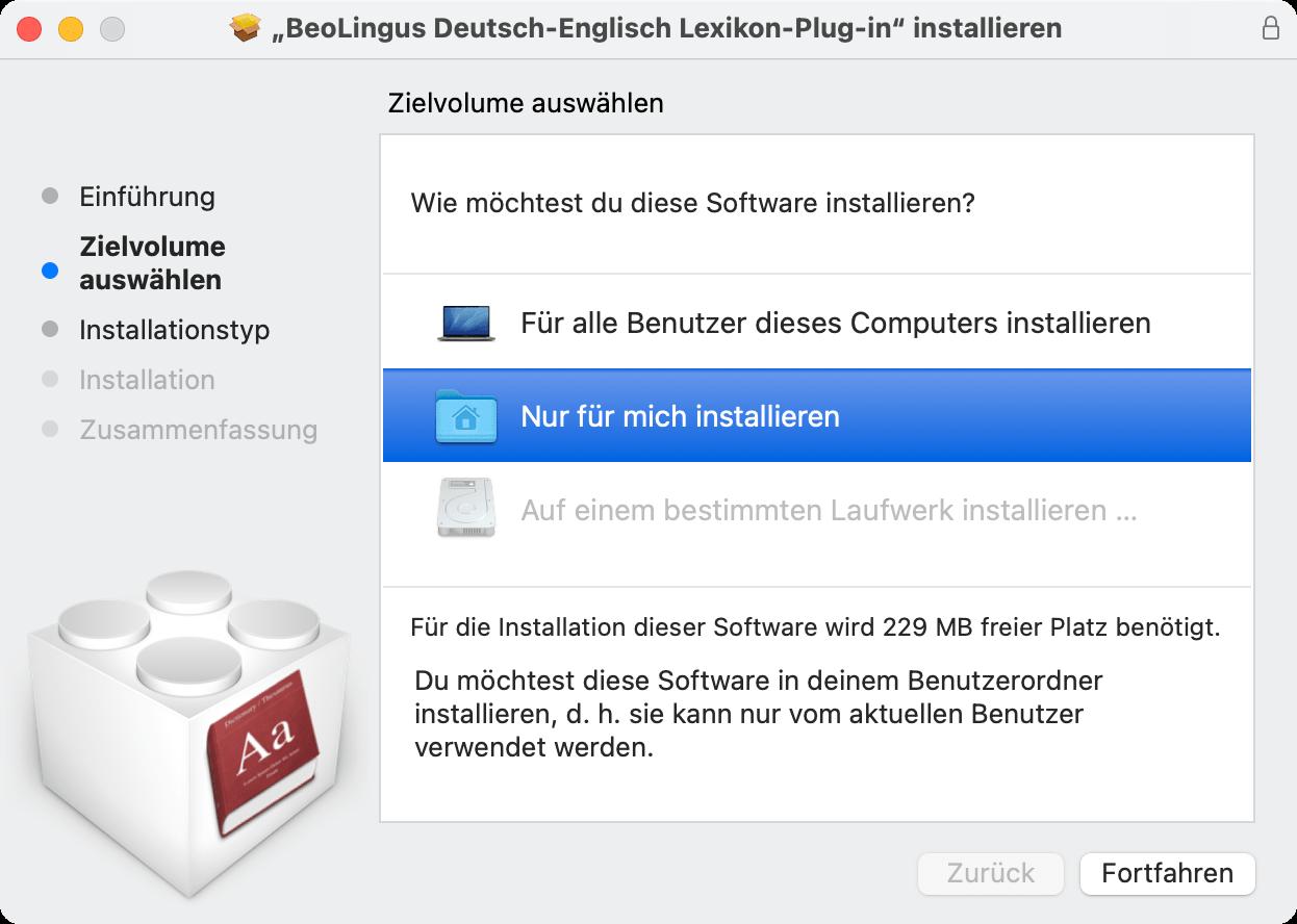 Screenshot: Gehe-zu-Dialog des Finders